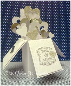 SU Label Love, Hearts collection Framelits, various Heart punches  -  Wedding Card in a Box    (Feb 12, 2014)
