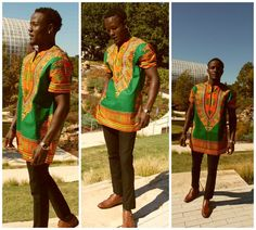 African Print Ankara - Men Dashiki Shirt | Mother daughter dresses. mommy and me, mother and daughter dress