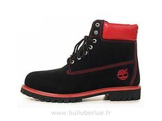 Chaussure Timberland Homme Inch Bottes Noir Rouge