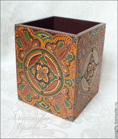 Купить Карандашница - разноцветный, коричневый, зеленый, оранжевый, восток, восточный стиль, восточный орнамент, восточный