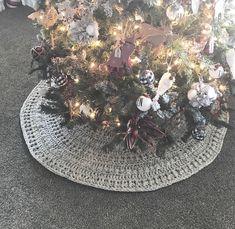 Crochet Pattern Crochet Tree Skirt Tree Skirt Pattern | Etsy Crochet Christmas Trees, Christmas Bulbs, Christmas Patterns, Crochet Tree Skirt, Autumn Trees, Is It Okay, Tree Skirts, My Photos