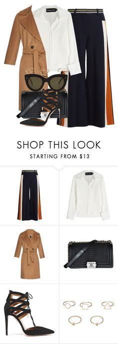 """""""*"""" by fashio-188 ❤ liked on Polyvore featuring Peter Pilotto, Brandon Maxwell, Weekend Max Mara, Chanel, Aquazzura, MANGO and CÉLINE"""