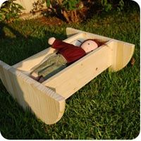 Wooden Doll Cradle (pattern included) wooden dolls, diy doll, diy crafts, circl, baby dolls, wooden toy, doll cradle plans, diy toy, baby cradle doll diy