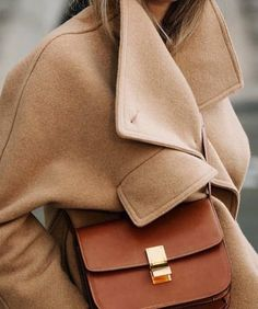 Celine box bag and camel coat Estilo Fashion, Fashion Mode, Ideias Fashion, Womens Fashion, Fashion Trends, Camel Coat Outfit, Beige Outfit, Mode Outfits, Winter Outfits