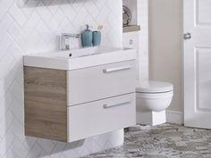 Additional image of Utopia You Modular Double Drawer Unit With Mineralcast Basin Minimalist Bathroom Design, Drawer Runners, Drawer Unit, Bathroom Basin, Bathroom Furniture, Drawers, Bathrooms, The Unit, Storage