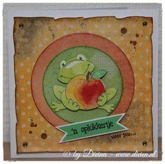 Opkikker kaartje, simple and clean, gemaakt met Marianne Design en Crealies mallen / Feel better soon card, simple and clean, made with Marianne Design and Crealies dies