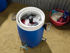Alex Cabunoc, based in Los Angeles, has developed 'Giradora', a human-powered washer and spin dryer grid-down scenario, off-grid homestead or cabin, and even while camping! Post-SHTF