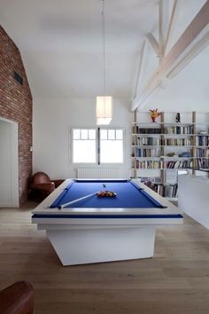 Blue- Snooker-Modern-in-a-gaming-room. #interiordesign #luxuryfurniture. For More News: www.bocadolobo.com