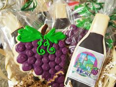 Wine Themed Cookie Favors by AuntieBeasBakery on Etsy