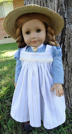 Anne of Green Gables Early 1900s Historical Outfit with Hat by Designed4Dolls on Etsy $29.95
