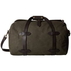 Filson Small Duffle Bag (Otter Green 1) Duffel Bags ($350) ❤ liked on Polyvore featuring bags and luggage