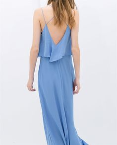 LONG DRESS WITH LOW BACK from Zara