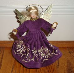 "Luxe PAULINE LEIDEL-SPREEN 1970s 80s German Wax 6.5"" Angel Christmas Tree Topper 