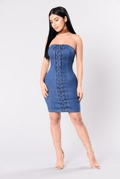 Intimissimi ! Medium Finely Processed Blue Dress