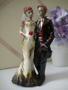 Zombie Wedding Cake Topper  I m not a huge fan of zombies but this     Zombies Lovers Gamers Sports Enthusiasts Happily Ever after Tech Junkies  Musically Inclined Star Wars Geeks  Find this Pin and more on Wedding Cake  Toppers
