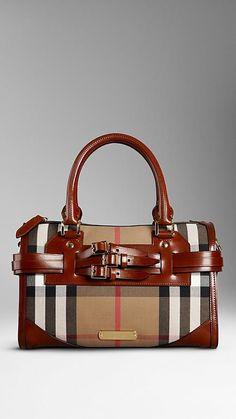 1a5ec71cf0dc Medium Bridle House Check Belted Bowling Bag