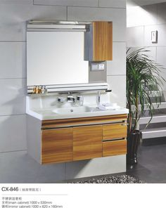 Best Modern Stainless Steel Bathroom Cabinet Images On Pinterest - Bathroom sink cabinets for sale