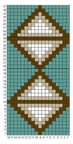 VIdeo Tutorial Parte 1 Parte 1 Tomar siempre la mitad de atrás de los puntos Diy Crochet Patterns, Tapestry Crochet Patterns, Bead Loom Patterns, Beading Patterns, Stitch Patterns, Mochila Crochet, Bag Crochet, Crochet Chart, Tapestry Bag