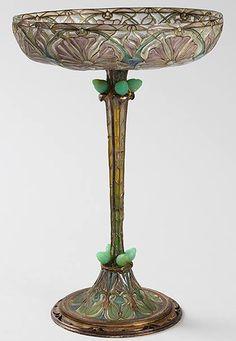 Art Nouveau - Coupe - Argent et Email Plique à Jour - Eugène Feuillâtre - Vers 1900