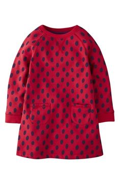 Mini Boden 'Cozy' Sweatshirt Dress (Little Girls & Big Girls) available at #Nordstrom