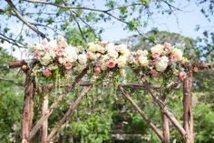 Wedding Canopy Arches. Maybe not this exactly but you could build something out of branches and put a few flowers and burlap and lace.