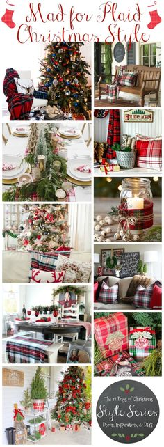 Are you mad for plaid? Join my Christmas Style series with plaid inspire Christmas designs! #christmasdecor