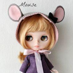blythe  mouse hat