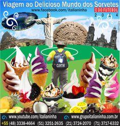 Viaje ao Delicioso Mundo dos Sorvetes com o Grupo Italianinha, maior fabricante de Máquinas de Sorvete da América Latina. Líder em vendas no Brasil - www.grupoitalianinha.com.br