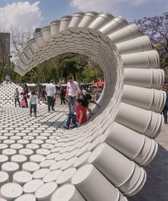 wave of buckets floods mextropolis architecture festival in mexico city - wave . - wave of buckets floods mextropolis architecture festival in mexico city – wave of buckets floods - Parametric Architecture, Pavilion Architecture, Architecture Portfolio, Facade Architecture, Sustainable Architecture, Residential Architecture, Contemporary Architecture, Landscape Architecture Model, Installation Architecture