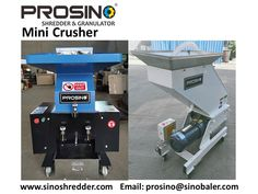 Mini crusher, also known as small granulator, is widely used in molding and recycling plants. It is a multipurpose granulating machine and applied for disposing various waste material, e.g. paper, plastic, rubber, etc.. To know more, please contact PROSINO team. Recycling Plant, Types Of Machines, Noise Levels, Plastic Waste, Two By Two, Paper, Mini, Plants, Plant