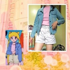 I want to find a denim jacket now Sailor Moon Outfit, Sailor Moon Usagi, Sailor Moon Cosplay, Casual Cosplay, Cosplay Outfits, Cosplay Costumes, Anime Inspired Outfits, Character Inspired Outfits, Cartoon Outfits