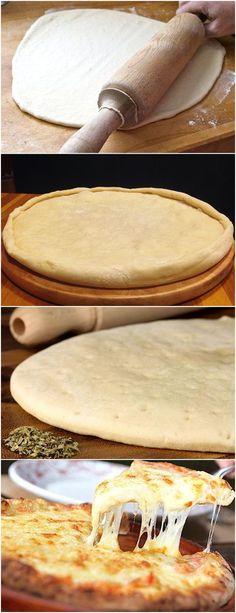 Aprendi a Fazer Esta Massa de Pizza; Veja Aqui >>> Vá adicionando a farinha e trabalhando com as mãos até obter uma massa homogênea. #receita#bolo#torta#doce#sobremesa#aniversario#pudim#mousse#pave#Cheesecake#chocolate#confeitaria