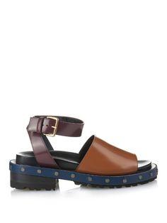 Marni Fousbert tri-colour leather sandals