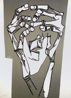 Oswaldo Guayasamin - Las manos del terror print c. 1973