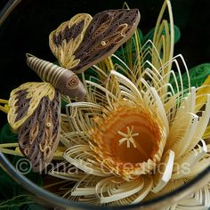 Quilling in a Fishbowl, closeup by Inna's Creations, via Flickr (Photo 2 of 2)