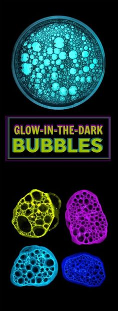 Fun project for kids: Make bubbles that glow-in-the-dark! SO COOL!