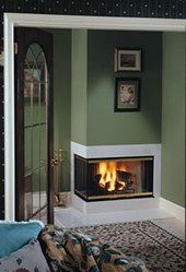 Majestic Two-Sided Fireplace | c36r l left or right corner multi sided woodburning fireplace