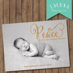 Christmas Card Photo Christmas Card Photo Holiday by LaLunaDesigns