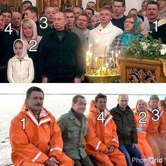 Эти «походы в народ» вызвали бурные комментарии в соцсетях. Пользователи смеются над тем, как естественно упомянутые лица играют роли рыбаков и прихожан в церкви — в зависимости от того, куда в очередной раз отправится Путин — на рыбалку, в церковь или в другое место.