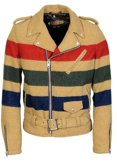 Birches motorcycle jacket in 'wool blanket' by Perfecto Brand by Schott.