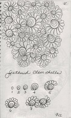 Here are a few designs from my sketch book               Leaves……always a favorite                Organic Background Filler           ...