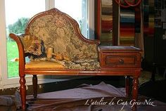 """The """"old fashioned"""" telephone bench takes on a new meaning when I saw this one! This is special !"""