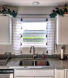 Simple sew kitchen curtain project from Target Opalhouse curtains. Boho Kitchen Curtains, Boho Kitchen, Kitchen Design Small, Chic Kitchen, Kitchen Curtains, Kitchen Island Design, Kitchen Curtains Diy, Opalhouse, Target Curtains