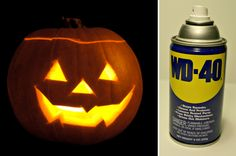 Preserve Your Jack-o-Lantern for Weeks with WD-40