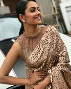 Stylish Fancy Blouse Designs For Latest Saree Blouses Designs From 2017 That Are Sure To Amaze YouAnita Hassanandani Images In Designer Latest Blouse Designs 2018 Patterns, Anita Hassanandani is an IndianLooking for stylish blouse designs fo Blouse Back Neck Designs, Netted Blouse Designs, Fancy Blouse Designs, Saree Jacket Designs Latest, Golden Blouse Designs, Dress Designs, Sleeve Designs, Designer Blouse Patterns, Saree Blouse Patterns