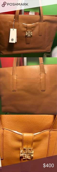 Authentic  big bag tory burch Beautiful brand new Tory burch leather big and classy color Tory Burch Bags Totes