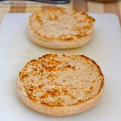 3 minute microwave english muffin (paleo, vegan and gluten free! Gluten Free Recipes, Low Carb Recipes, Cooking Recipes, Bread Recipes, Gluten Free Baking, Vegan Gluten Free, Paleo Vegan, Gluten Free English Muffins, Skinny Recipes
