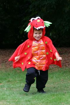 Blaze Dragon Dress up Costume - totswarehouse  The Dress up By Design Blaze Dragon dress up outfit is perfect for any little boy or girl.  The outfit includes:      Fiery red plush dragon hooded cape which features tail, wings and shiny scales     Easy Velcro Fastening to the front     Soft plush head with big eyes and teeth     Machine washable #baby #dragon #outfit