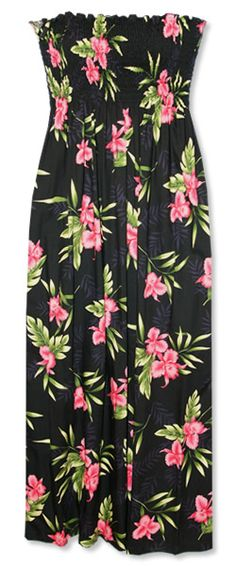Midnight Maxi Smocked Hawaiian Dress    My family doesn't know it yet but matching hawaiian clothing is in our future.
