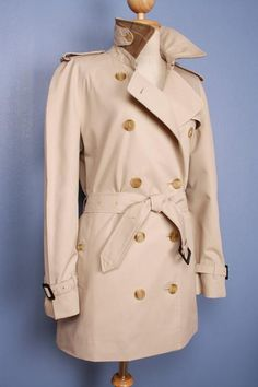 Beautiful vintage Burberry trench coat, refurbished to a modern look, size M/L, $279